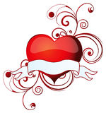 Valentine banner - vector. Illustration of a valentine's heart with a banner to add your text Stock Image