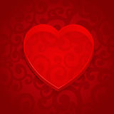 Valentine banner with volume application heart Royalty Free Stock Photography