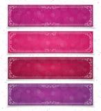 Valentine-bannerreeks Royalty-vrije Stock Foto's