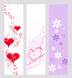 Valentine banners Stock Photos