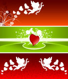 Valentine banners stock illustration