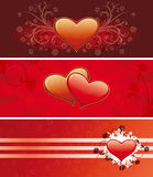 Valentine banners Royalty Free Stock Images