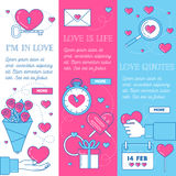 Valentine Banners Set Immagine Stock