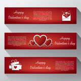 Valentine banners for your website with envelope, Stock Photos