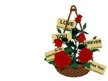 Valentine Basket Stockfotos