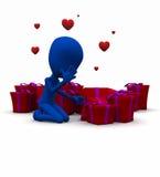 Valentine Be mine Stock Images
