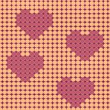 Valentine beadwork design Royalty Free Stock Images