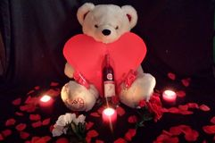 Valentine Bear fotografie stock libere da diritti