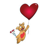 Valentine Bear Fotografia Stock
