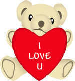 Valentine bear Stock Images