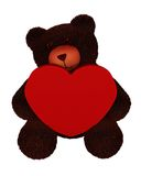 Valentine Bear with copyspace Royalty Free Stock Photo