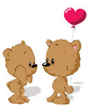 Valentine bear couple Stock Photo