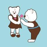Valentine bears Stock Photos