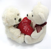 Valentine bears. Love each other stock image