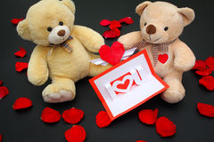 Valentine bears. Gifts ideas for Valentines day Royalty Free Stock Photos