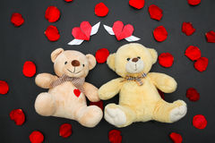 Valentine bears. Gifts ideas for Valentines day Royalty Free Stock Photography