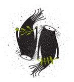 Valentine Beasts Monster Twins Design Photographie stock libre de droits
