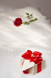 Valentine Bed Royalty Free Stock Photos