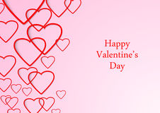 Valentine beutiful background with hearts Royalty Free Stock Images