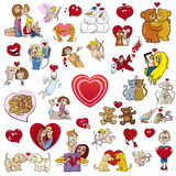 Valentine big cartoon collection Royalty Free Stock Photos