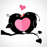 Valentine Birds Fotografia Stock