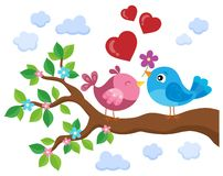 Valentine birds on branch theme 1. Eps10 vector illustration vector illustration