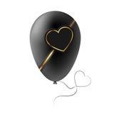 Valentine black heart Royalty Free Stock Image