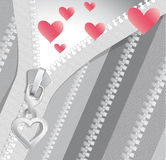 Valentine black-and-white background with hearts Stock Images