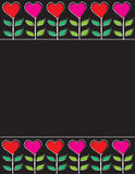 Valentine Blackboard Stock Photography