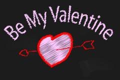 Valentine Blackboard Lizenzfreie Stockbilder