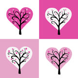 Valentine blooming tree Royalty Free Stock Image