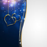 Valentine Blue Background Stock Photos