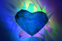 valentine blue heart Royalty Free Stock Photography
