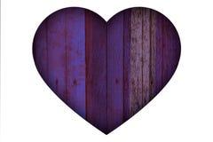 Valentine blue violet heart wood texture royalty free illustration
