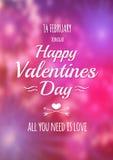 Valentine blurred background. Stock Images