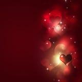 Valentine Blurry Hearts vektor abbildung