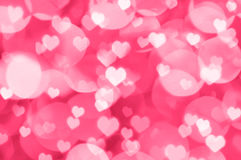 Valentine bokeh background Stock Image