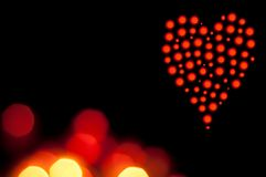 Valentine Bokeh Heart Royalty Free Stock Photos
