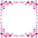Valentine border Royalty Free Stock Image