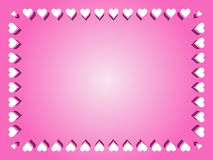 Valentine Border Background Photos stock