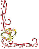 Valentine Border Hearts Stock Photo