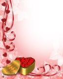 Valentine Border Hearts Royalty Free Stock Image