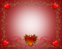 Valentine Border Hearts Stock Photography
