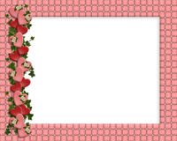 Valentine Border Hearts frame Royalty Free Stock Photo