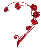 Valentine border with roses Royalty Free Stock Images