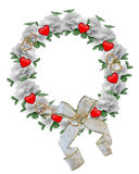 Valentine Border Roses Wreath design royalty free stock photo