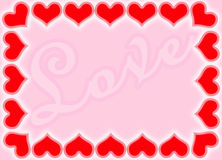 Valentine borders Royalty Free Stock Image