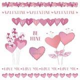 Valentine Borders Stock Image
