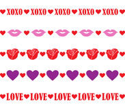 Valentine Borders Royalty Free Stock Photos