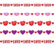 Valentine Borders Royalty Free Stock Photos